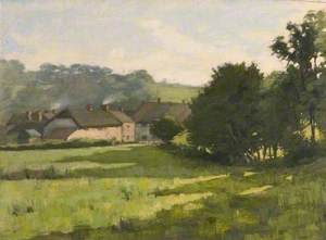 Farm Buildings in Twilight