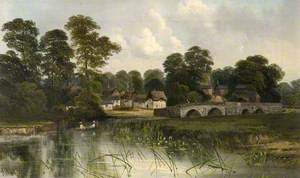 Village and Bridge at Iford, Dorset