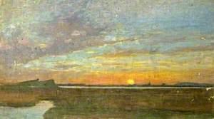 Coastal Scene at Sunset