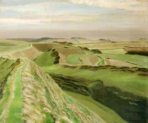Southern Face of Maiden Castle, Dorset