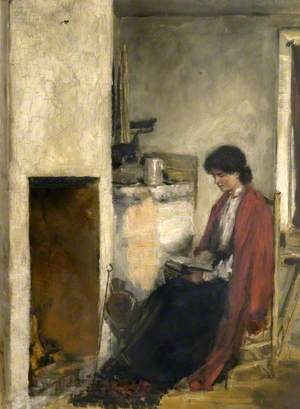 May Powys (1882–1972), by the Fire