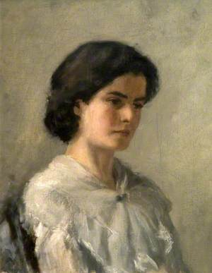 Marian (May) Powys (1882–1972) with a Lace Shawl
