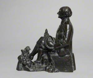 Maquette of the Statue of Thomas Hardy (1840–1928) at the Top 'o Town