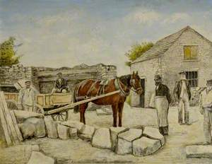 Ambrose Bower's Quarry Mine, Langton Matravers, Dorset, 1890