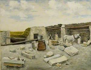 George Burt's Quarry Mine in Swanage, Dorset, 1895