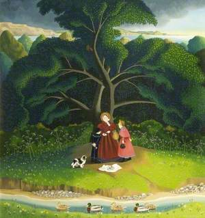 Mary Anning (1799–1847), under a Shady Tree