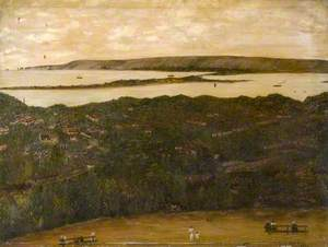 View over Poole Harbour from the Parkstone Viewpoint, Dorset