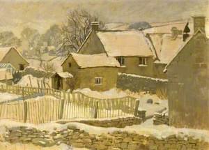 Winter Scene from the Artist's Cottage, Brockhampton, Gloucestershire