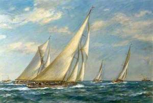Yachts off Spithead