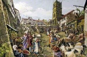 Gold Hill, Shaftesbury, Dorset, before 1827