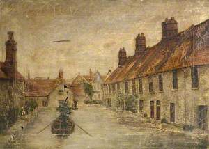 Swanage, Dorset, during the 1914 Flood