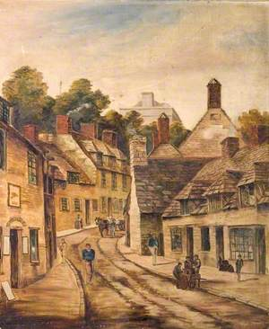 High Street before the Town Hall, Swanage, Dorset, c.1870
