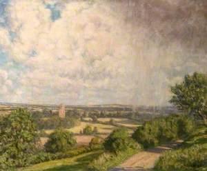 Cranborne Chase, Dorset, a View towards Horton Tower