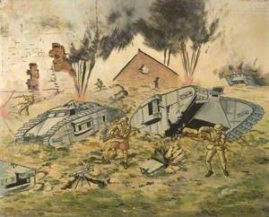 First World War Battle Scene