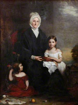 Elizabeth Cheape of Rossie (1768–1857), and Her Granddaughters (Elisabeth Dalyell, 1812–1865 & Annetta Louisa, 1738–1811)