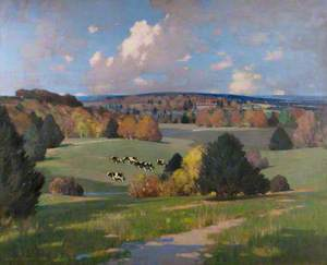 Sussex Landscape with Cattle