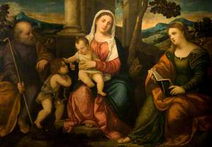 The Holy Family with the Young John the Baptist and Saint Catherine of Alexandria