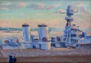 HMS 'Diomede' at Rosyth