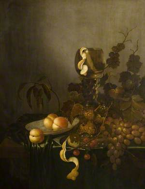 Still Life with Fruit and Hock Glass
