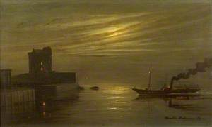 Broughty Castle, Night Scene