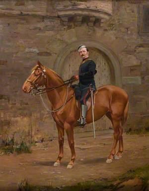 A Volunteer Officer on Horseback