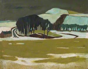 Farm and Hill, Winter
