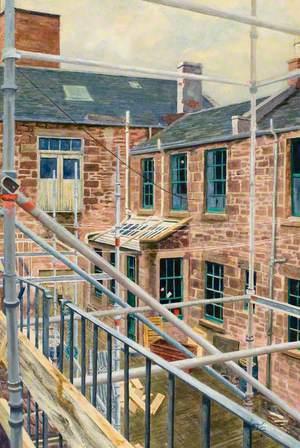 Verdant Works Courtyard during Restoration