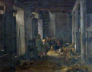 Children Playing in the Byre