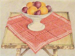 Plate with Oranges