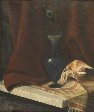Still Life with a Dark Blue Vase