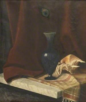 Still Life with a Dark Blue Vase