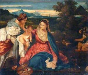 Madonna and Child with Saint Catherine and a Rabbit