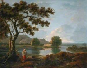 River Scene with a Farmhouse