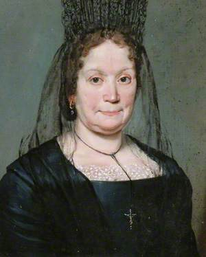 Portrait of an Elderly Lady in Black