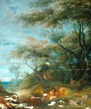 Landscape with Equestrian and other Figures