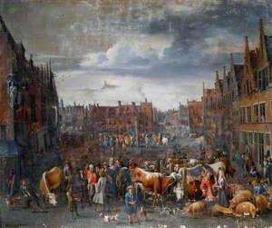 Cattle Market in Antwerp, Belgium