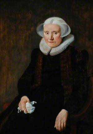 Portrait of an Old Lady in Seventeenth-Century Costume