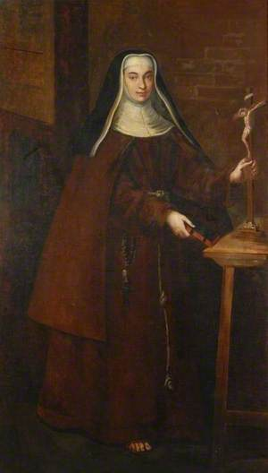A Franciscan Nun with a Crucifix