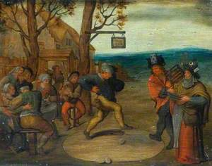 Peasants with a Man Dancing