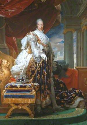 Charles X (1757–1836), in His Coronation Robes
