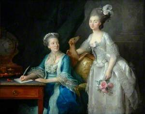 Portrait of an Elderly Woman with Her Daughter
