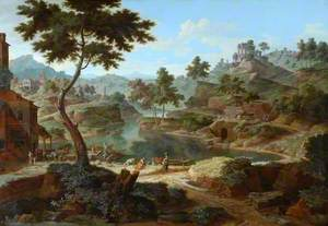 Classical Landscape with Figures and Ruins