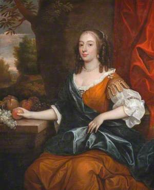 Portrait of a Lady Holding an Apple