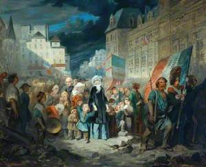 Madame de Lamartine Adopting the Children of Patriots Killed at the Barricades in Paris during the Revolution of 1848