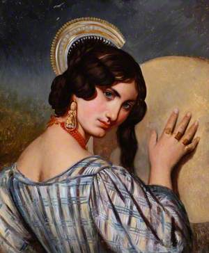 Study of an Italian Girl with a Tambourine