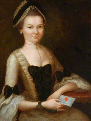 Portrait of a Lady in White, Holding a Letter