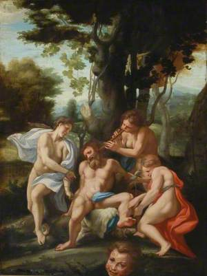Silenus and Bacchantes
