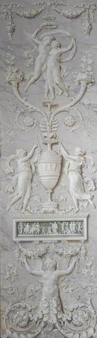 Panel of Trompe l'oeil Ornament