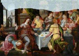 Mary Magdalene Washing Christ's Feet