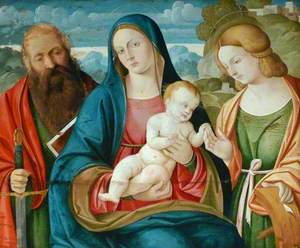 The Madonna and Child with Saint Paul and Saint Catherine